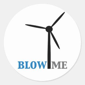 brennen Sie mich Windkraftanlage durch Runder Aufkleber