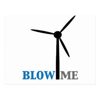brennen Sie mich Windkraftanlage durch Postkarte