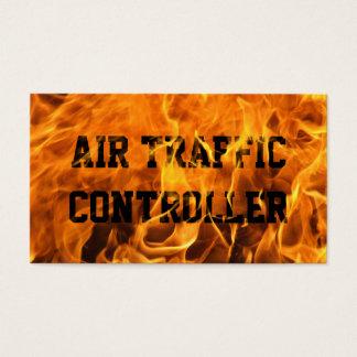 Brennende Feuer-Fluglotse-Visitenkarte Visitenkarten