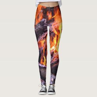 Brennende Flammen Leggings