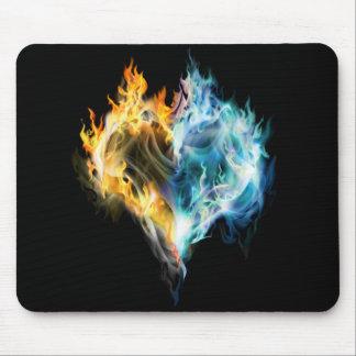 Brennende Herz-Mausunterlage Mousepad