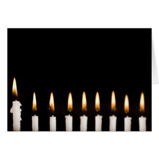 Brennende Kerzen Chanukkas Chanukah Hanukah Karte