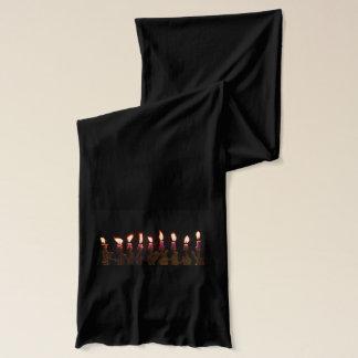 Brennende Kerzen Chanukkas Chanukah Hanukah Schal