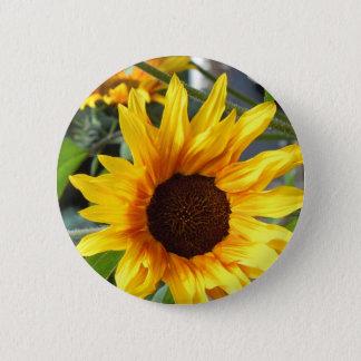 Brennende Sonnenblumen Runder Button 5,7 Cm
