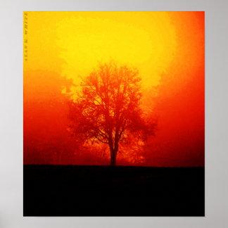 Brennender Baum Poster