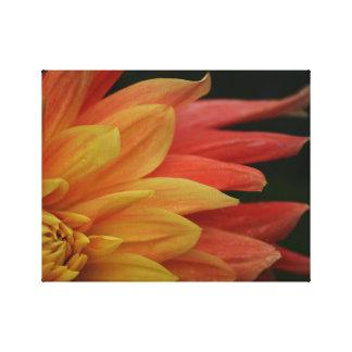 Brennender Blumen-Leinwand-Druck Leinwanddruck