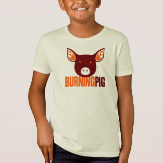 Brennender das Schwein-T - Shirt des Kindes