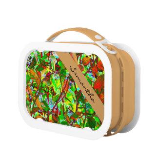 Brennender Herbstlaub personalisiert Brotdose