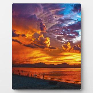 Brennender Himmel Fotoplatte