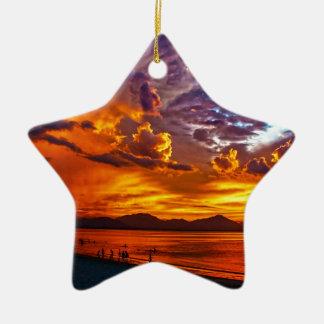 Brennender Himmel Keramik Ornament