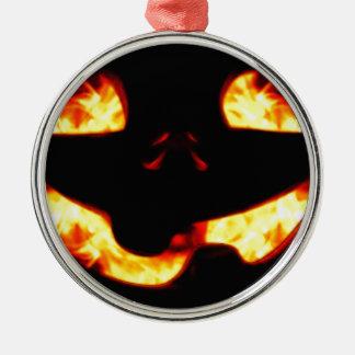 Brennender Jack Silbernes Ornament