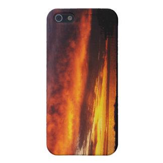 Brennender Santa Monica Sonnenuntergang iPhone 5 Hülle
