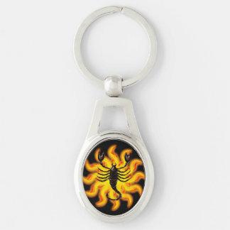 Brennender Skorpion Schlüsselanhänger