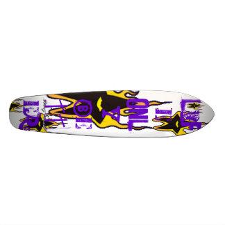 Brennender Stern-alte Schulkreuzer Skateboardbrett