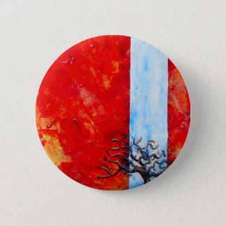 Brennendes Bush Runder Button 5,1 Cm