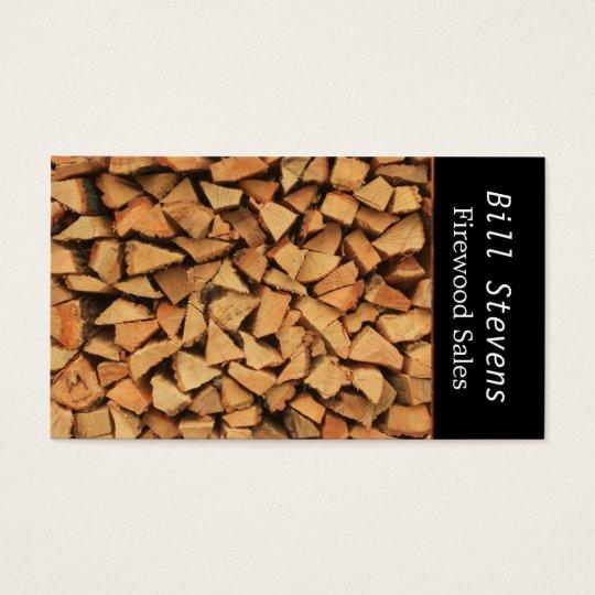 Brennholz Visitenkarte | Zazzle