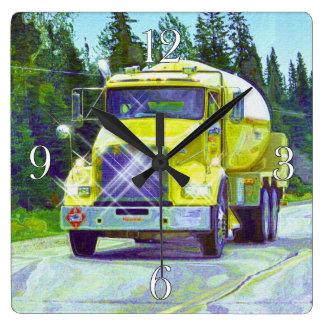 Brennstoff-u. Gas-Tanker-LKW-Wanduhr Quadratische Wanduhr