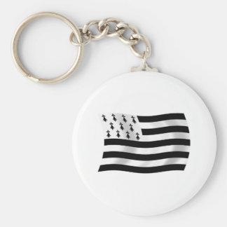Bretagne-Flagge Keychain Schlüsselanhänger