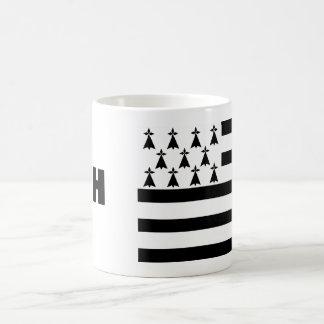 Bretagne-Flaggen-Tasse Tasse