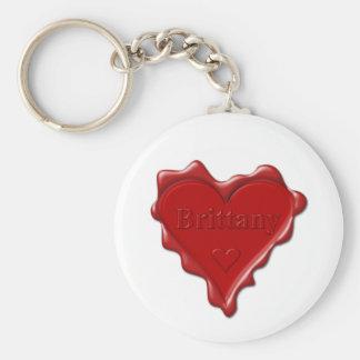 Bretagne. Rotes Herzwachs-Siegel mit Schlüsselanhänger