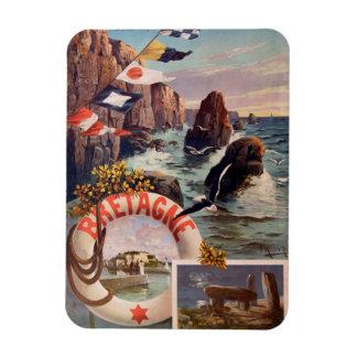 Bretagne - Schönheit Ile en Mer Bretagne Vinyl Magnete