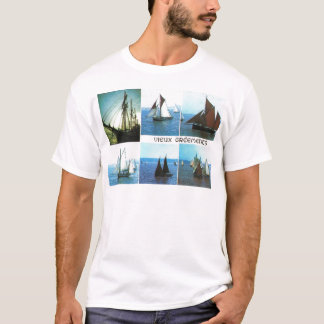 Bretagne, traditionelle Segelnschiffe T-Shirt