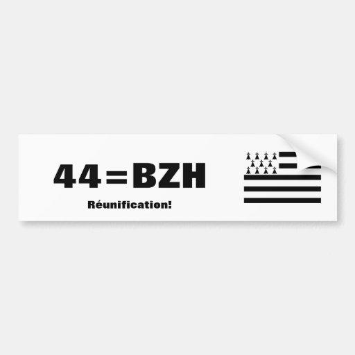 Bretagne-Wiedervereinigungs-Autoaufkleber
