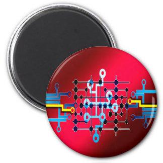 BretLeiterzug-Kontrolle cente Runder Magnet 5,1 Cm