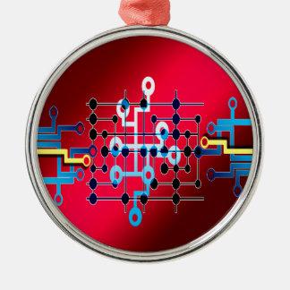 BretLeiterzug-Kontrolle cente Silbernes Ornament