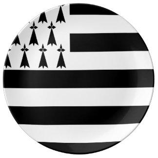 Bretonische Flaggen-Porzellan-Party-Platte Teller Aus Porzellan