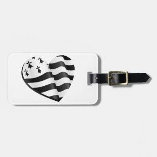 Bretonisches Flaggenherz Gepäckanhänger