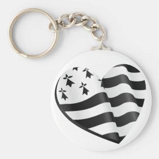 Bretonisches Flaggenherz Schlüsselanhänger