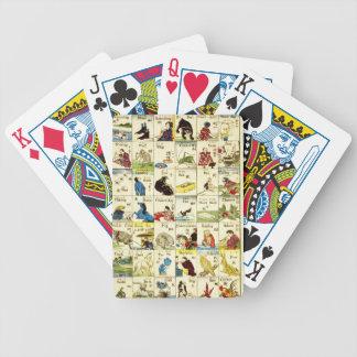 Brett des chinesischen Alphabets Bicycle Spielkarten