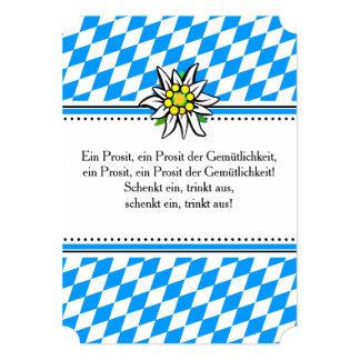 Brettchen Oktoberfest Einladung 12,7 X 17,8 Cm Einladungskarte