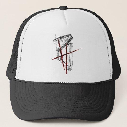 BrettHit Trucker Cap New Logo (Black / Red) Truckerkappe