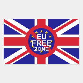 Brexit Rechteckiger Aufkleber
