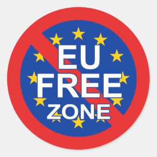 Brexit Runder Aufkleber