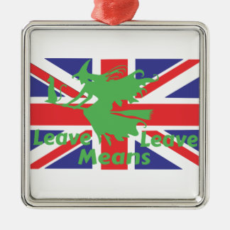 brexit silbernes ornament