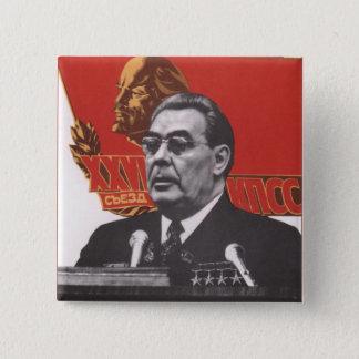 Brezhnev Quadratischer Button 5,1 Cm