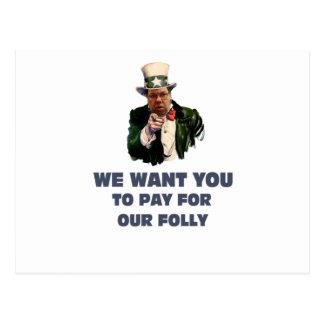 Brian will Sie Postkarte