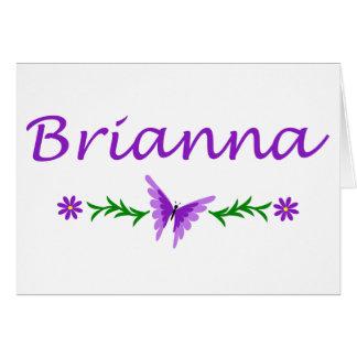 Brianna (lila Schmetterling) Karte