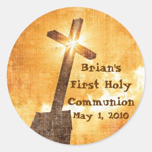 Brians erste heilige Kommunions-Aufkleber