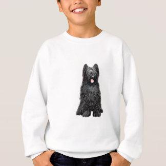 Briard (a) - Schwarzes Sweatshirt