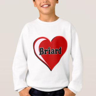 Briard auf Herzen für Hundeliebhaber Sweatshirt