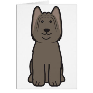 Briard HundeCartoon Karte