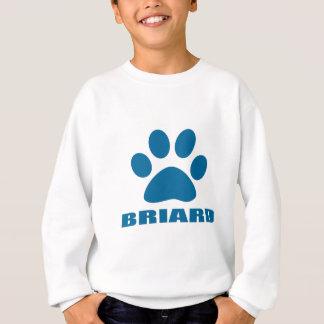 BRIARD HUNDEentwürfe Sweatshirt