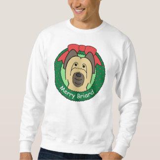 Briard Weihnachten Sweatshirt
