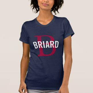 Briard Zucht-Monogramm-Entwurf T-Shirt