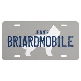 BRIARDMOBILE Briard Silhouette mit US Nummernschild