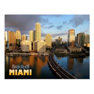 Brickell Skyline in Miami, Florida Postkarte